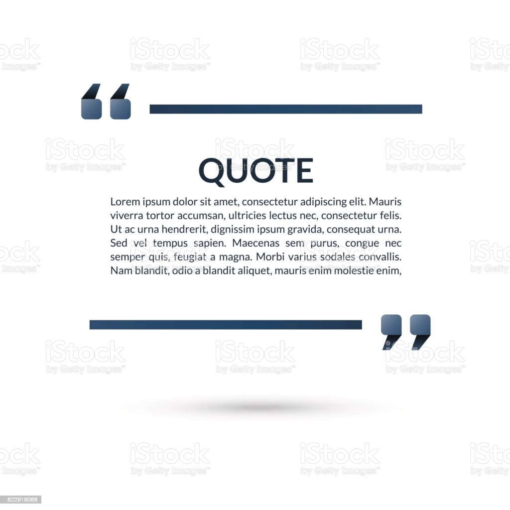quote box speech bubble blank frame for citations text in brackets