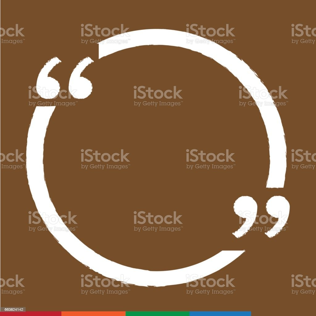 Quote Bubble Blank Icon Illustration Design Stock Vector Art & More