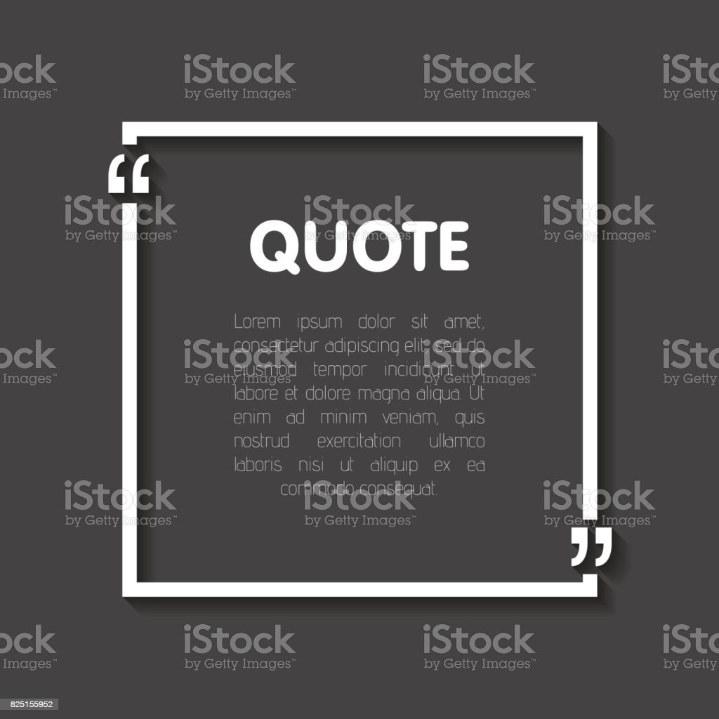 Quote bubble blank templates. Empty business card, paper sheet, information, text. Realistic 3d shadow. Print design Vector illustration vector art illustration