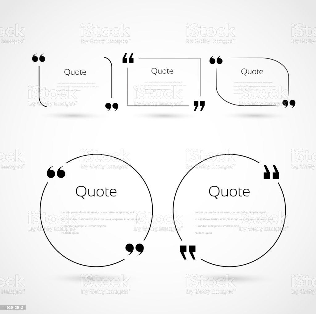 Quote bubbles template set vector art illustration