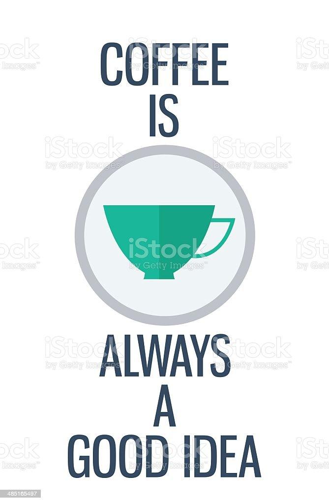 Angebot Kaffee Ist Immer Eine Gute Idee Stock Vektor Art Und Mehr