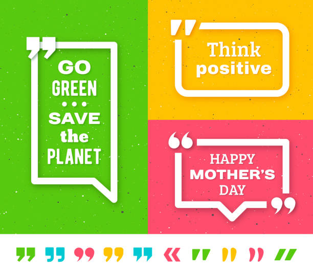 Quote frame templates. Quotation marks set vector art illustration