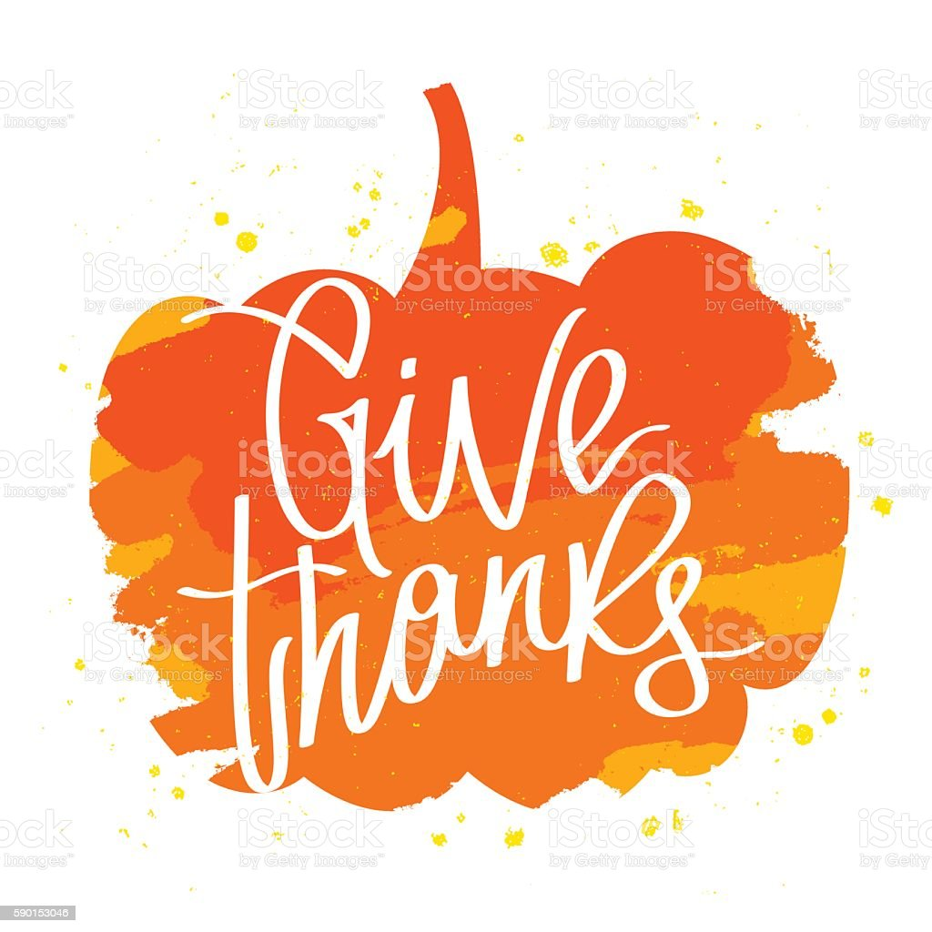 Quote Give thanks in the pumpkin - Illustration vectorielle