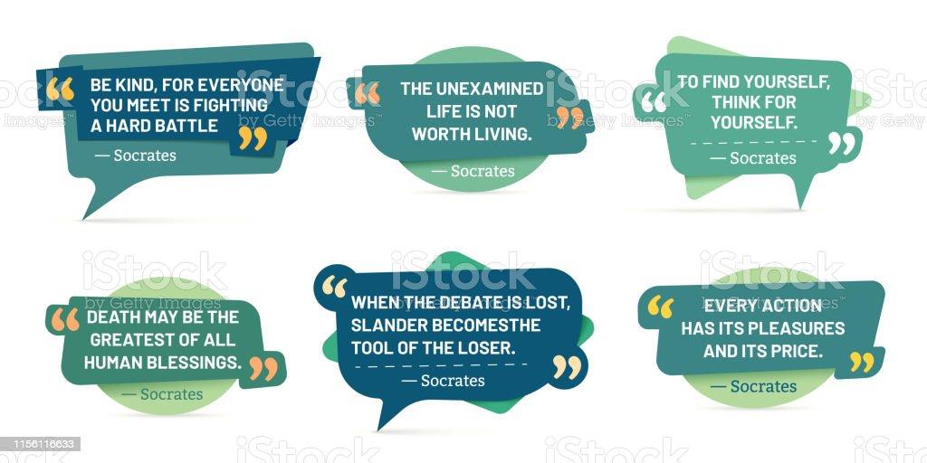 Zitat In Anführungszeichen Rahmen Sokrates Zitate Sprache