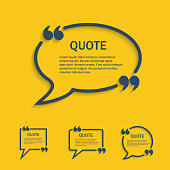 Quote line speech bubble set