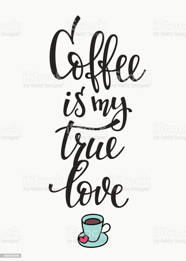 Quote love coffee typography royalty-free quote love coffee typography stock vector art & more images of art