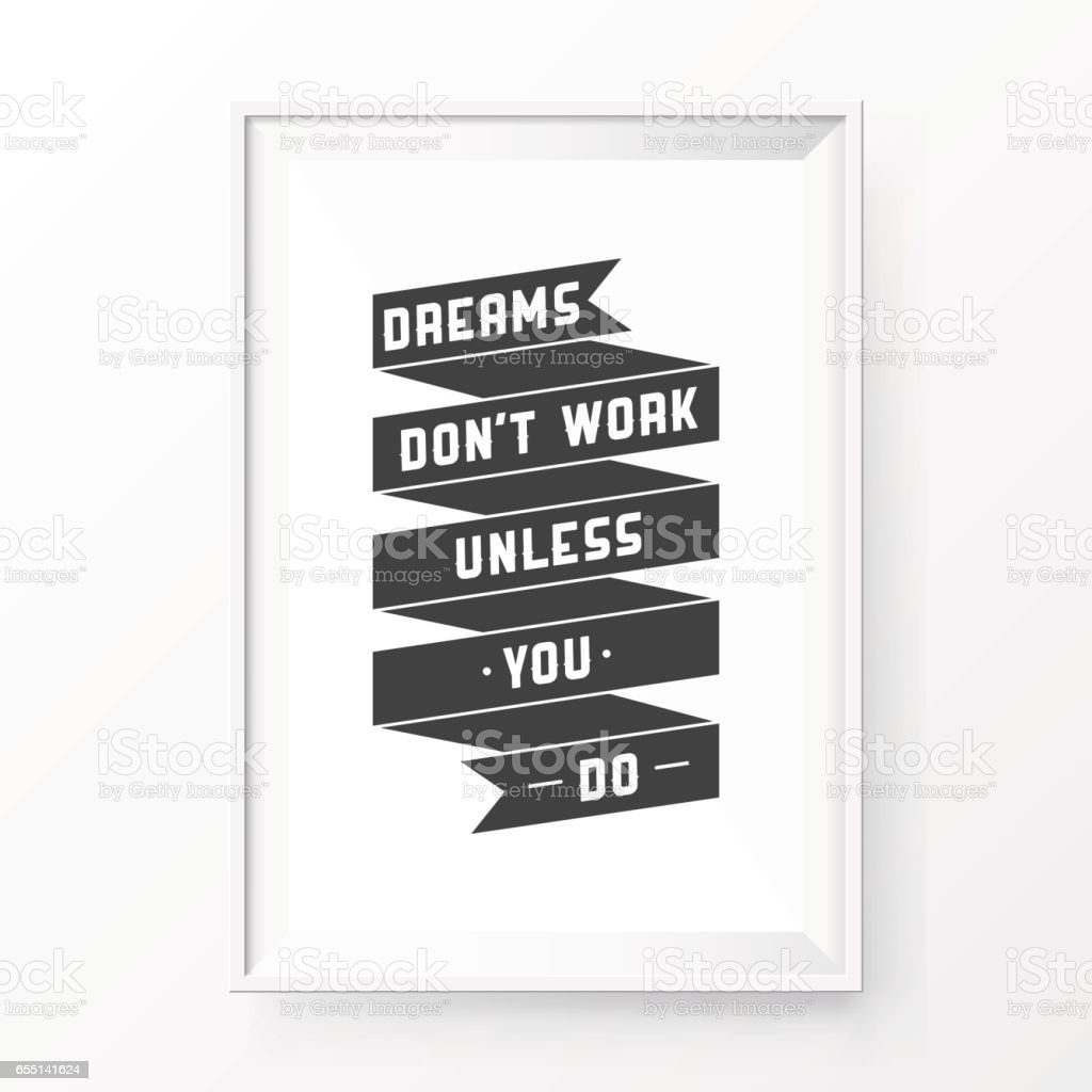 Quote Poster Frame Vektor Illustration 655141624   iStock