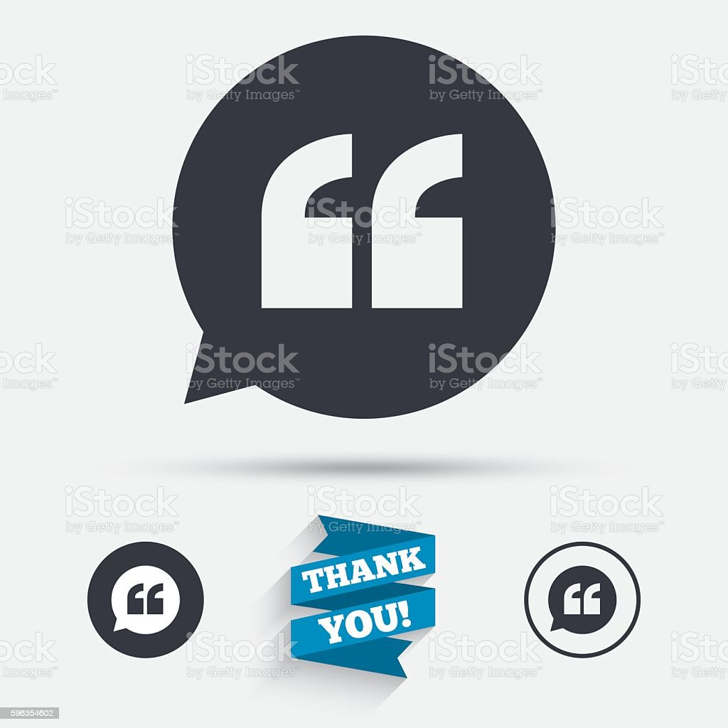 Quote sign icon. Quotation mark symbol. royalty-free quote sign icon quotation mark symbol stock vector art & more images of badge