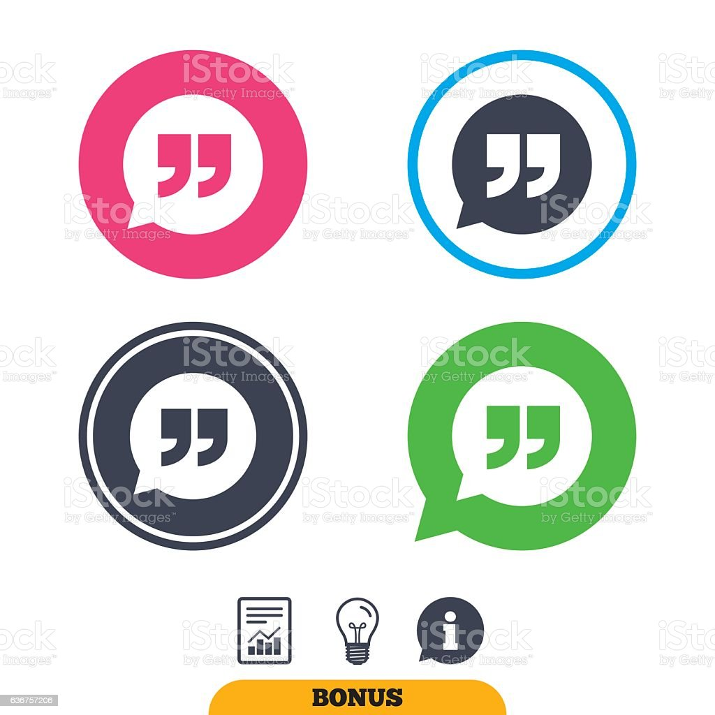Quote Sign Icon Quotation Mark Symbol Stock Vector Art 636757206