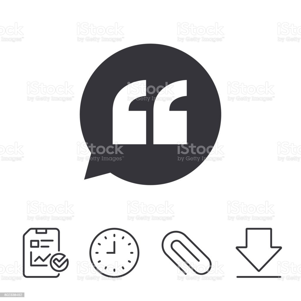 Quote Sign Icon Quotation Mark Symbol Stock Vector Art More Images