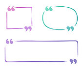 Quote speech bubbles with space for copy.