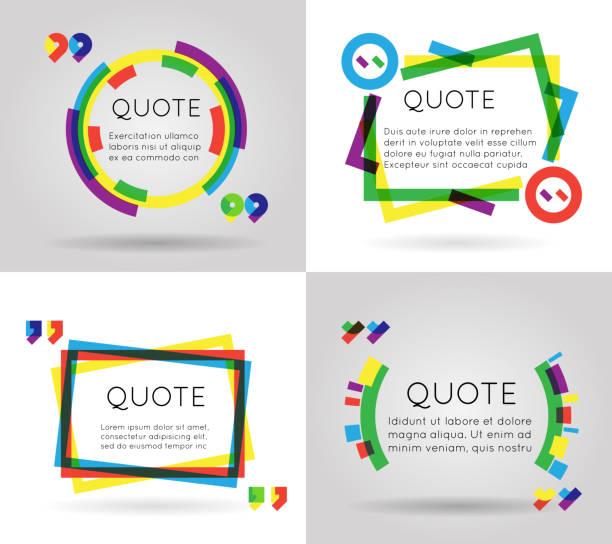 ilustraciones, imágenes clip art, dibujos animados e iconos de stock de cita de información colorido texto de la plantilla de negocio móvil aislado en el blog - marcos grunge
