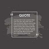 Quote text bubble. Commas, note, message and comment Design element