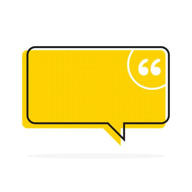 Zitat Text Blase. Kommas, Notiz, Nachricht und Kommentar Vector – Vektorgrafik