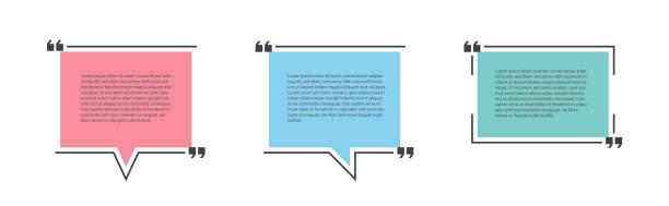stockillustraties, clipart, cartoons en iconen met quote tekstbel of notitie, vak of sjabloon. - citaat tekst