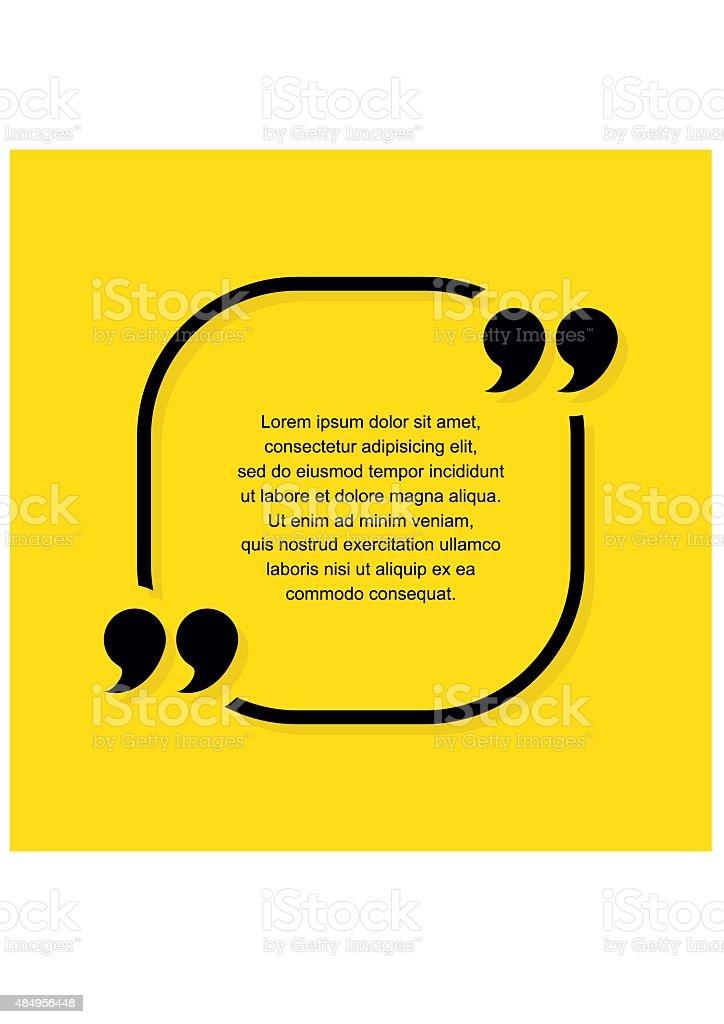 Quote text bubble vector art illustration
