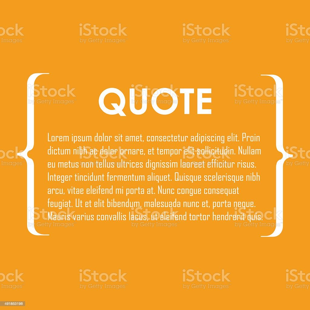 Quote text bubble. vector art illustration