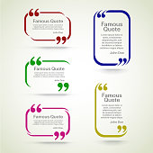 rectangle quote box with your text, quotation marks. Eps 10 vector illustration