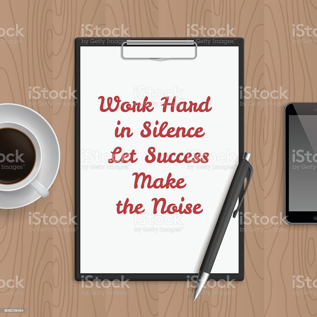 Quote Work Hard In Silence Let Sucsess Make The Noise