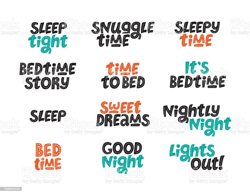 Quotes About Sleep Stock Vector Art More Images Of Baby Human