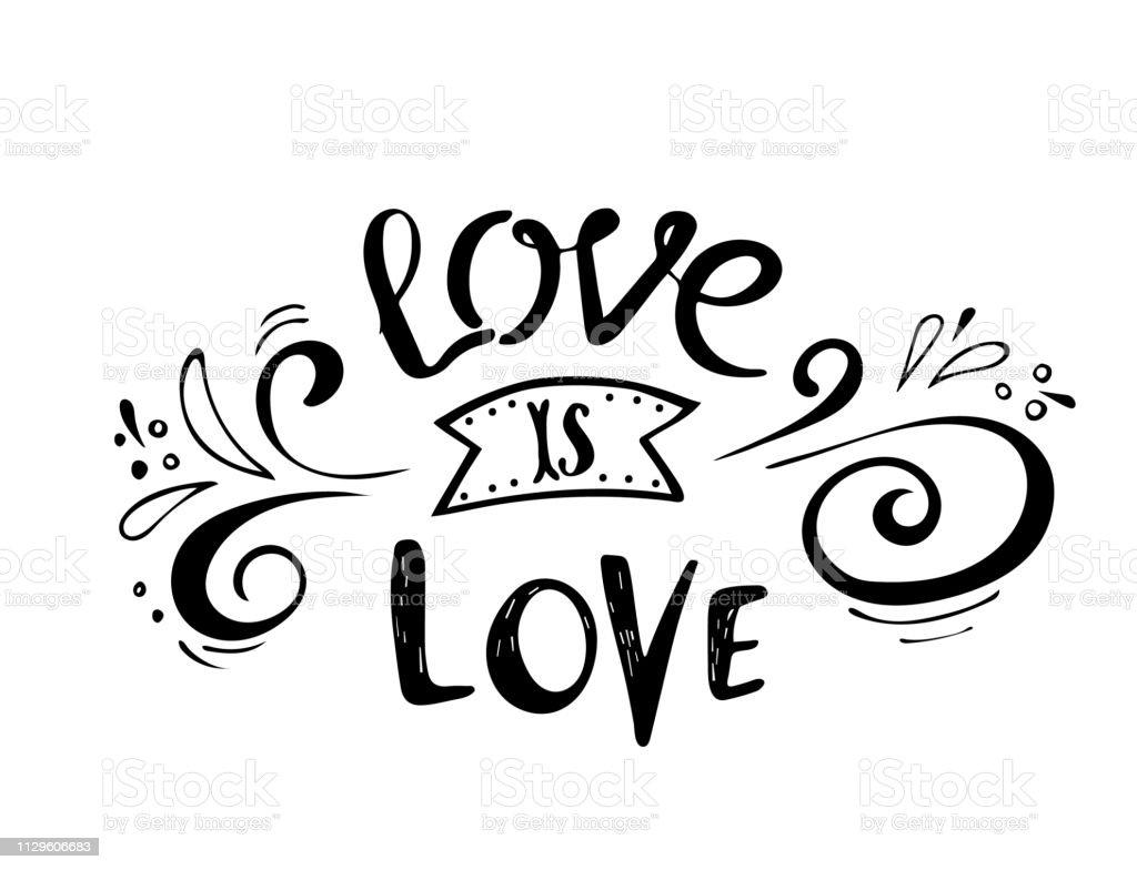 Citaten Liefde Is Liefde Valentine Belettering Liefde