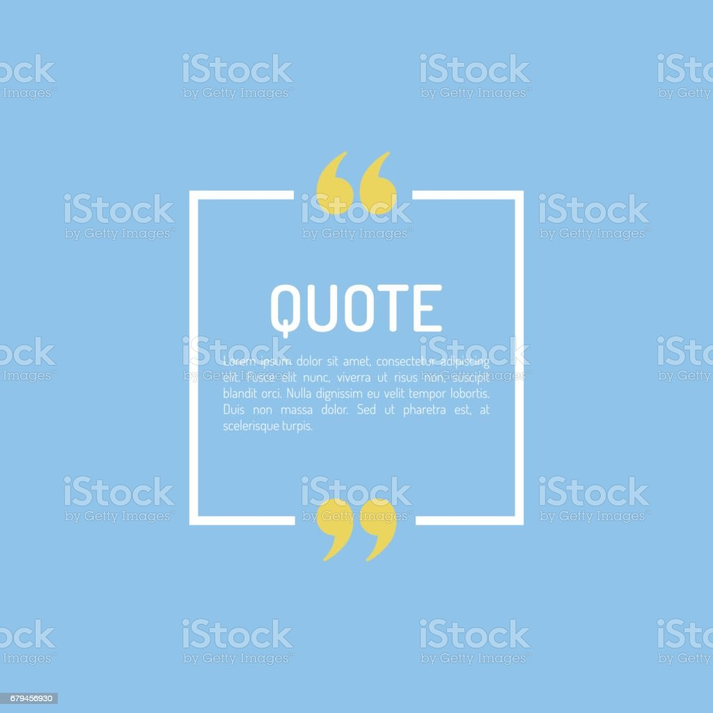 Quotes Template in flat style Colored Flat Quotes royalty-free quotes template in flat style colored flat quotes stock vector art & more images of bar graph