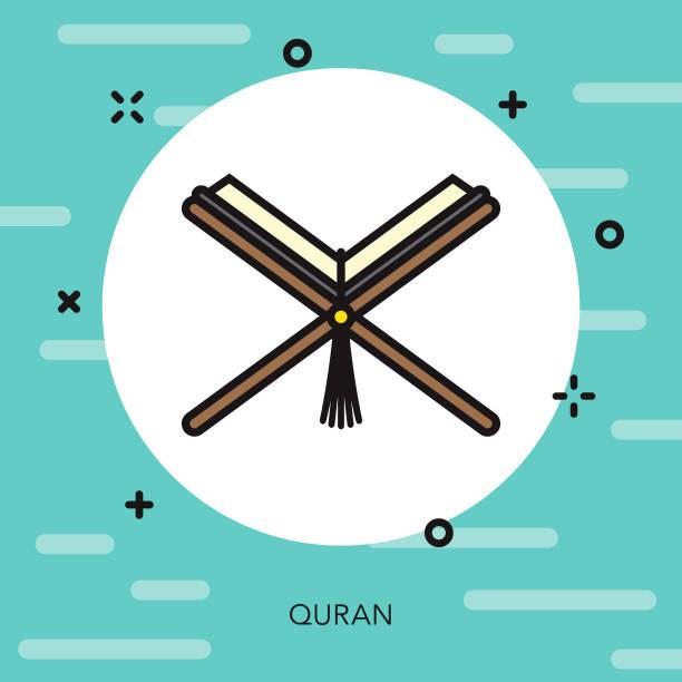 ilustrações de stock, clip art, desenhos animados e ícones de quran thin line turkey icon - cora��o