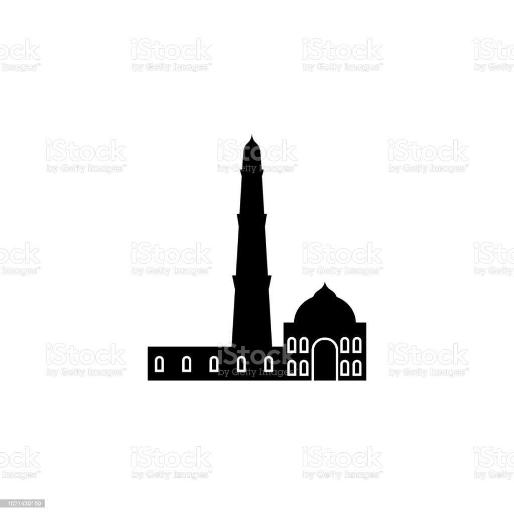 Qutb minar icon elements of indian culture icon premium quality graphic design signs