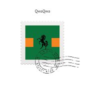 QwaQwa Flag Postage Stamp
