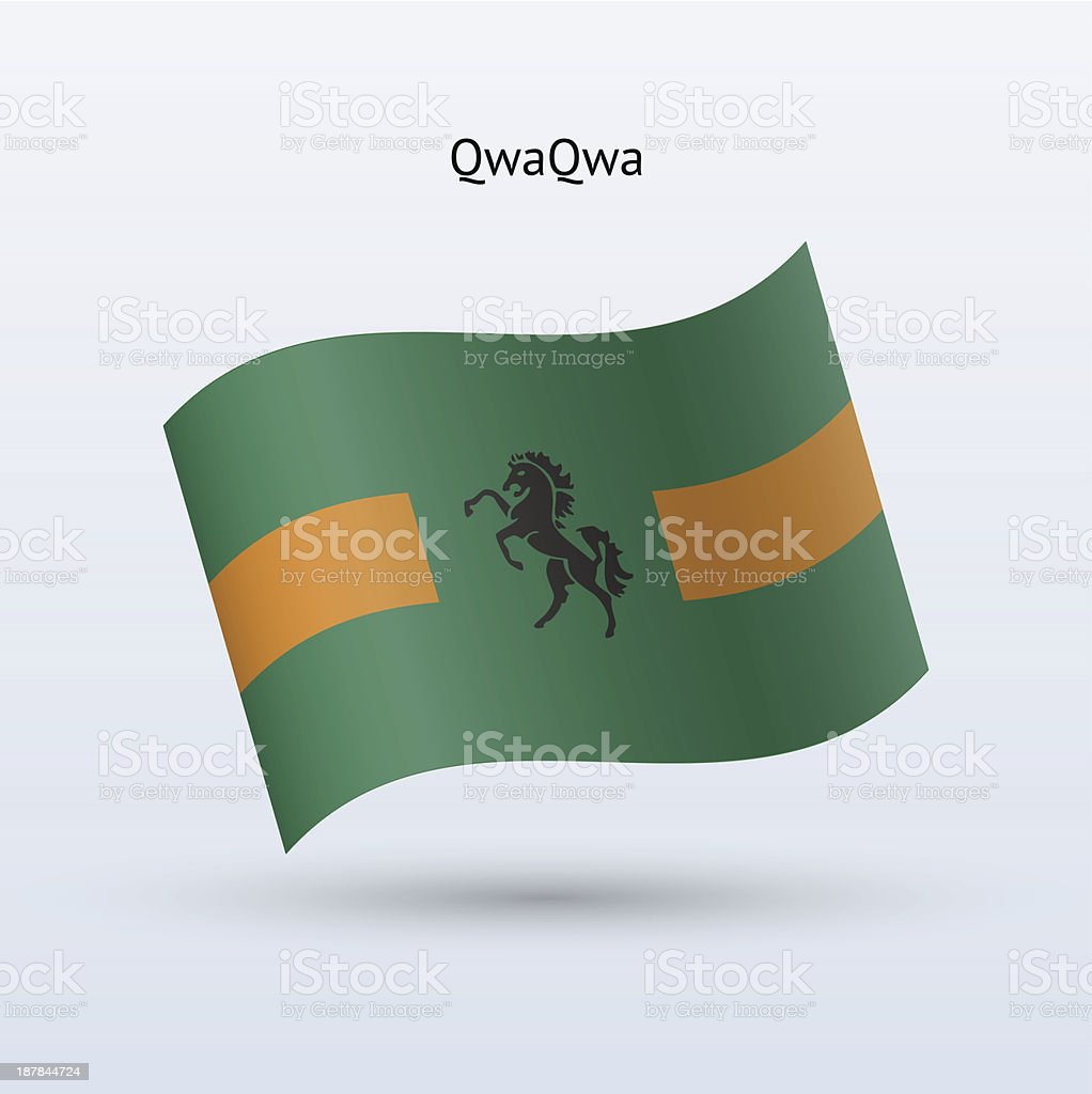 QwaQwa Flag royalty-free stock vector art