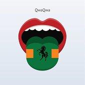 QwaQwa language. Abstract human tongue.