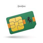 QwaQwa mobile phone sim card with flag
