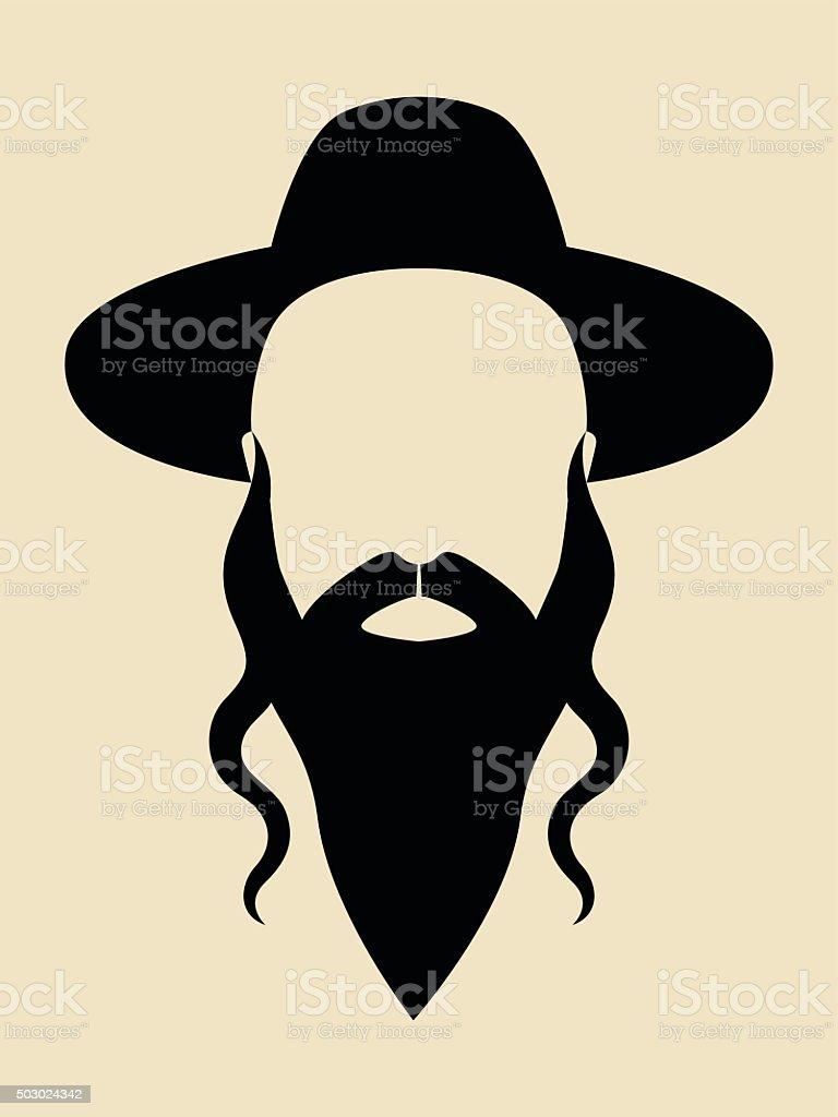 Rabbi vector art illustration