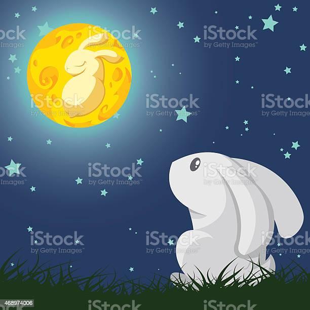 Rabbit and the moon vector id468974006?b=1&k=6&m=468974006&s=612x612&h=hxeqxc2h0si7kla r9au tb utlduajmr4x shju1bq=