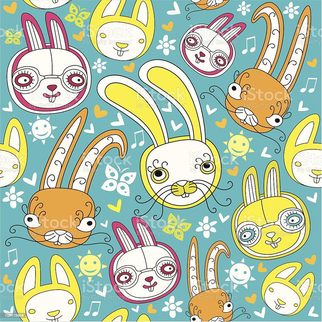 Rabbit background royalty-free stock vector art