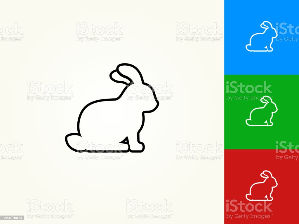 Rabbit Black Stroke Linear Icon royalty-free rabbit black stroke linear icon stock vector art & more images of animal