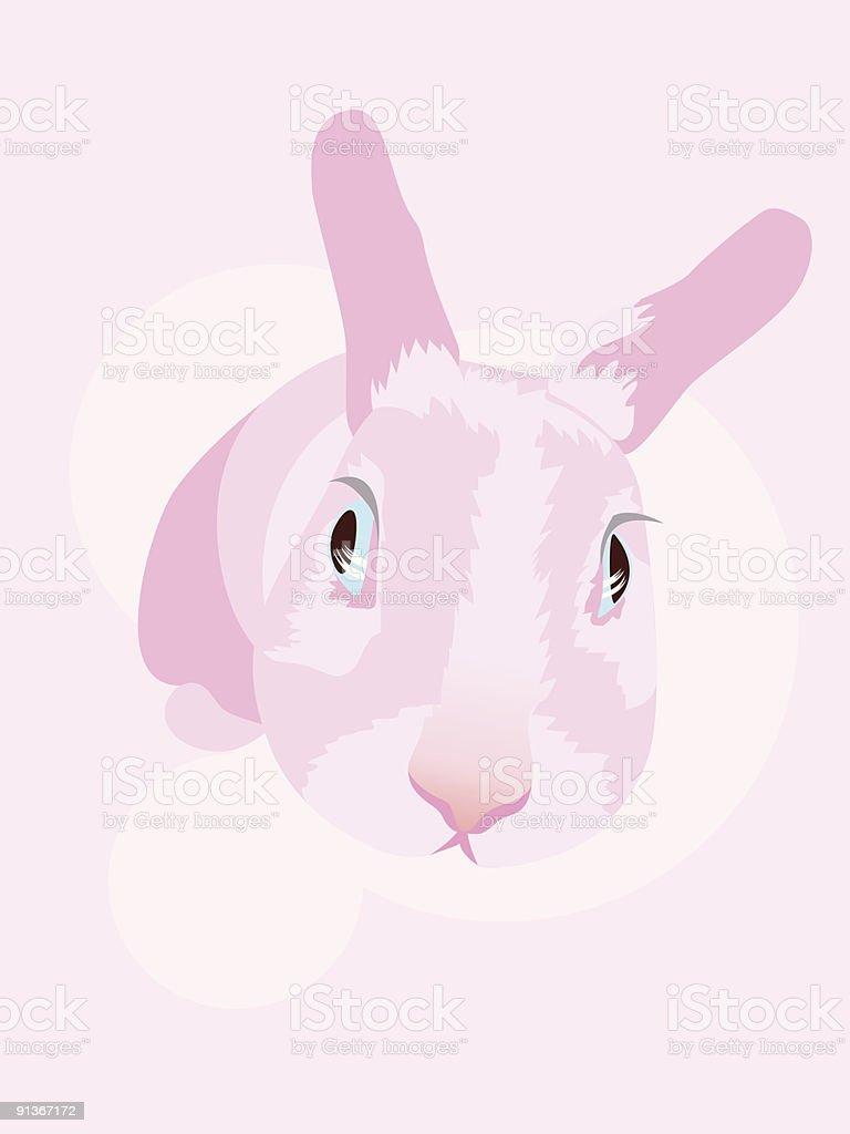 rabbit blue eye royalty-free stock vector art