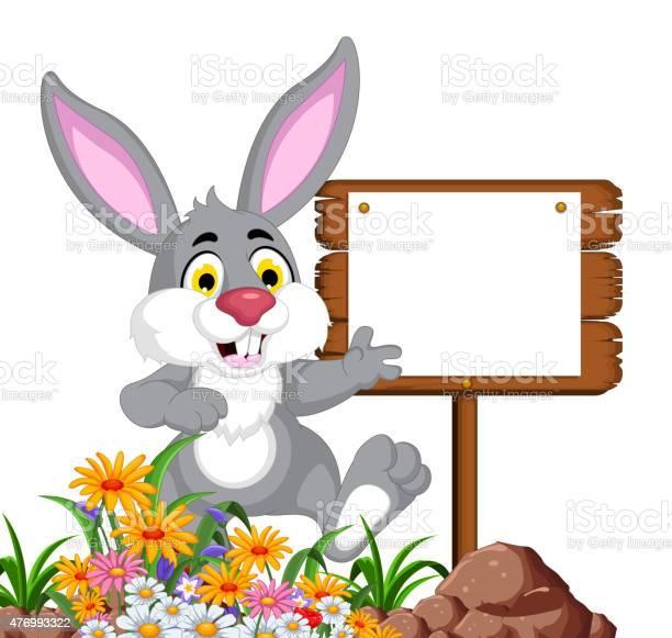 Rabbit cartoon posing with blank sign vector id476993322?b=1&k=6&m=476993322&s=612x612&h=audx0lsyhubxuvkk4zvs1hdpzpmow96fslvsiofe4y8=