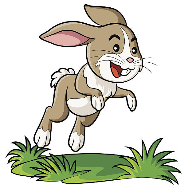 Royalty free rabbit jump clip art vector images illustrations rabbit cartoon vector art illustration voltagebd Image collections