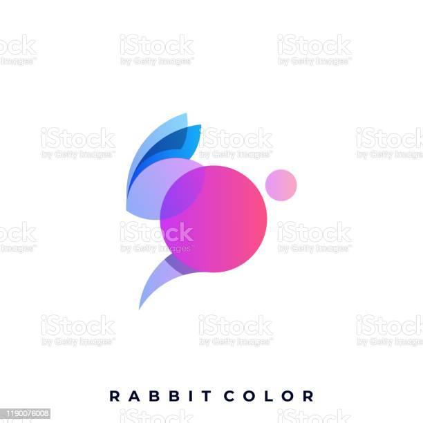 Rabbit colorful illustration vector design template vector id1190076008?b=1&k=6&m=1190076008&s=612x612&h=n 7xabod3nwavwfkhobkxhlxrszgnbkchemlddzgqcc=