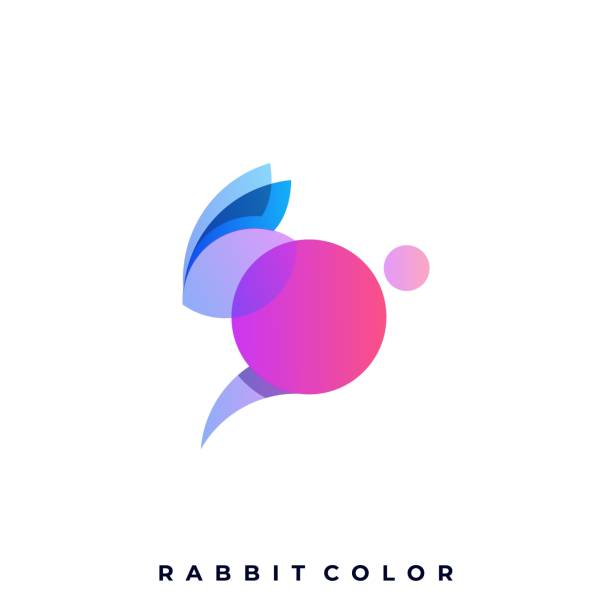 Rabbit Colorful Illustration Vector Design Template Rabbit Colorful Illustration Vector Design Template. Suitable for Creative Industry. Multimedia, entertainment, Educations, Shop, and any related industry business. mammal stock illustrations