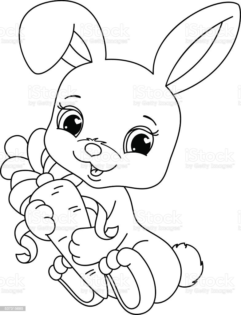 Rabbit Coloring Page Stock Illustration Download Image Now Istock