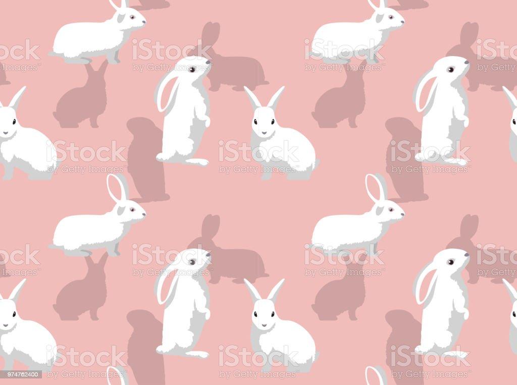 ウサギ フロリダ白い背景のシームレスな壁紙 アナウサギのベクターアート素材や画像を多数ご用意 Istock
