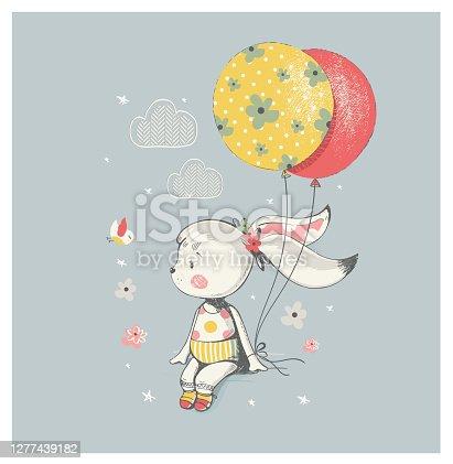 rabbit girl with balloon