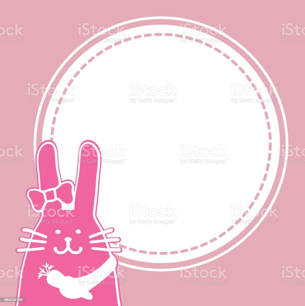 rabbit holding a carrot with Text frame. royalty-free rabbit holding a carrot with text frame stock vector art & more images of animal
