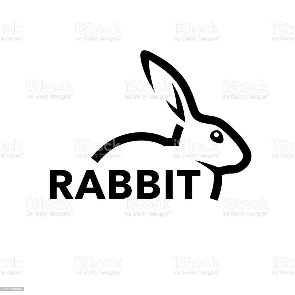 Rabbit Icon Concept With Bunny Line Symbol Stock Vector Art More