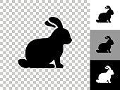 istock Rabbit Icon on Checkerboard Transparent Background 1224162114
