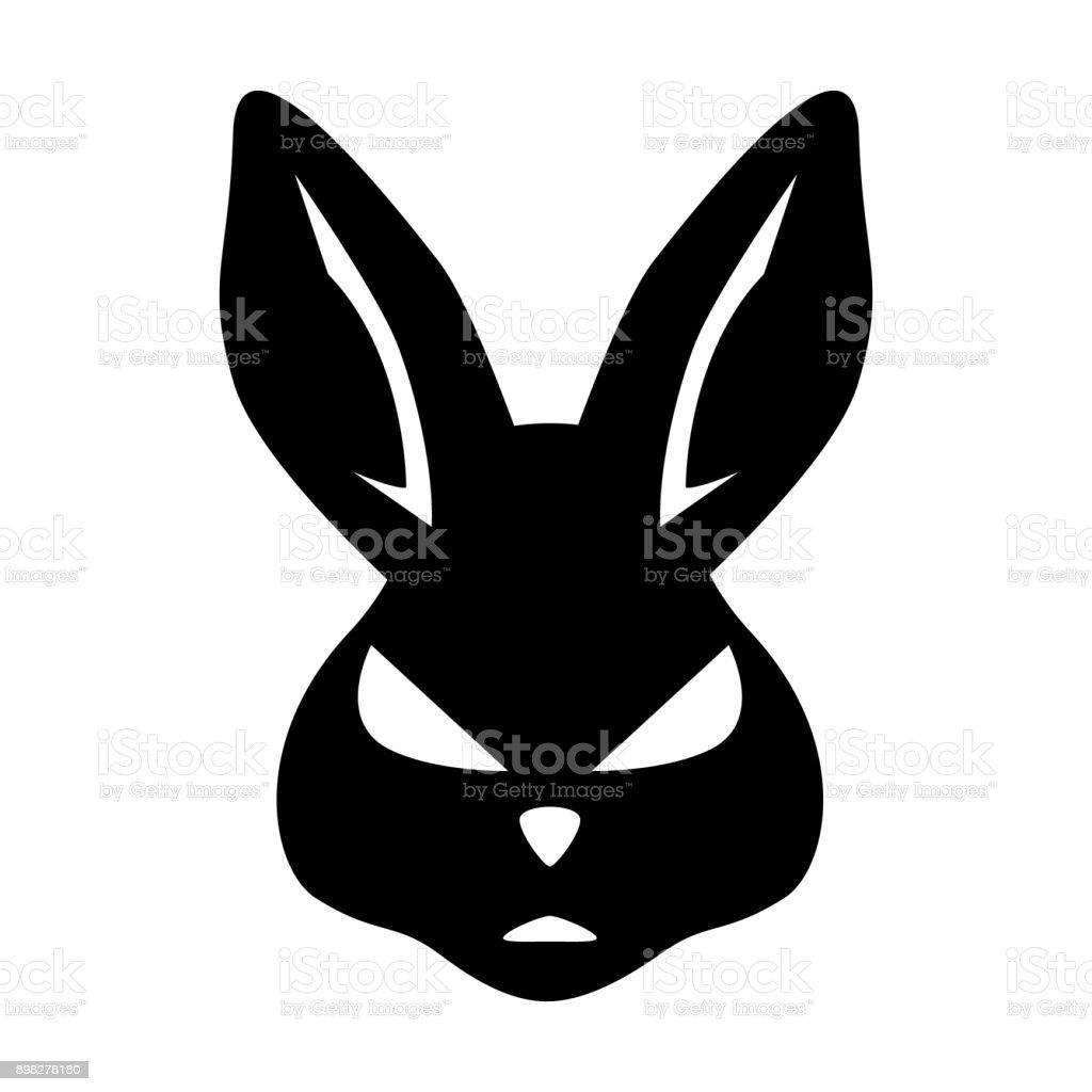 Ilustración de Diseño De Cabeza De Conejo Icono Símbolo y más banco ...