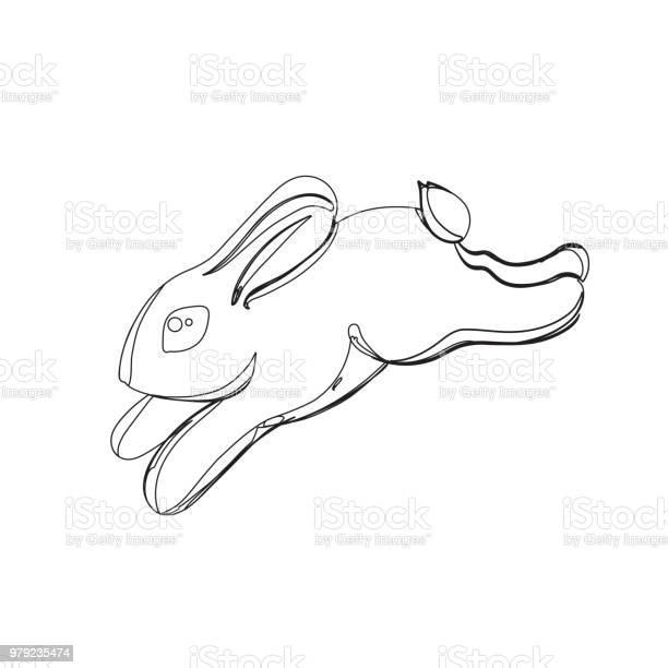 Rabbit in continious line graphic style vector id979235474?b=1&k=6&m=979235474&s=612x612&h= zndm6wkh39ypkhnwqgse2gthixycwoqsp4sv 2b2x0=