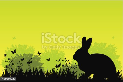 vector file of rabbit in grass